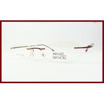 Armação De Titanium Óculos De Grau Vermelha Sem Aro - A541