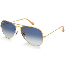 Oculos Rb3025 Ou Rb3026 Aviador Azul Degrade Frete Gratis