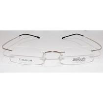 Armação Oculos De Grau Silhouette Titanium Sem Aro Flexivel