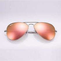Óculos Rayban Feminino Masculin De Sol Estilo Aviador Uv400