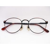 Armação De Óculos Cor Cobre Vintage - Retrô Redonda 48