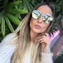 Óculos Feminino Crisdior Mirrored Moda Famosas Juju Salimeni