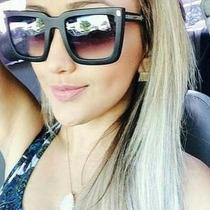 Oculos Quadrado Feminino Tartaruga Marrom Preto Degradê