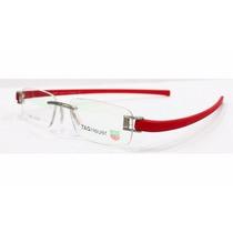 Armação Óculos De Grau Tag Heuer Silicone Vermelha Th5069
