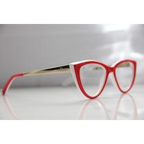 Oculos De Grau Dior Modelo Gatinho Armação Frete Grátis