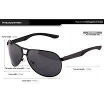 Óculos Aviador Uv 400 Polarizado Espelhado Ou Preto + Brinde
