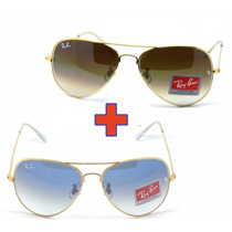 Oculos Rayban Aviador Compre 1 Leve 2 3025 3026 Frete Gratis