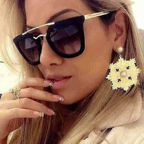 Óculos Praada Feminino Geometric Preto Laminado (brilhoso)