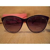 Óculos Sol Feminino Gucci Italiano Importado Haste Tigresa