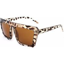 Lindo Oculos De Sol Com Armacao De Oncinha Quadrada Leopardo