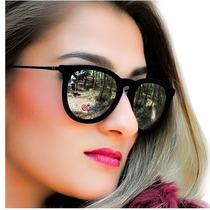 Óculos De Sol Ray Ban Feminino Erika Velvet Veludo Espelhado