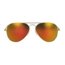 Oculos De Sol Estilo Aviador Lentes Espelhadas Amarelas