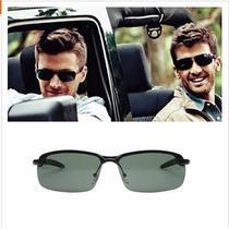 Óculos Sol Masculino Esporte Lentes Cor Verde Polarizado Uv