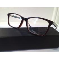 Armação De Óculos De Grau Acetato Emporio Armani Marrom