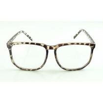Armação Óculos De Grau Grande Quadrada Tartaruga - A781