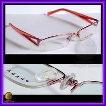 Óculos De Grau, Armação, Aro E Haste Rosas Pr517hv