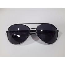 Óculos De Sol Escuro Triton Aviador Preto Metal