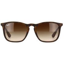 Óculos Ray Ban De Sol Unissex Chris Lentes Marrom Gradiente