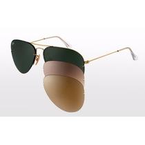 Oculos Rb3460 Aviador + 3 Pares De Lentes Promoção