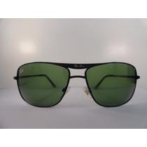 Óculos De Sol Ray Ban 8013 Preto Lente Verde G15