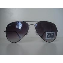 Óculos De Sol Rayban Aviador 3025 Grafite Lente Cinza