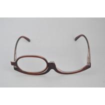 Óculos De Grau P/ Maquiagem Marrom Facilidade Fem +3,5 B77