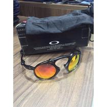 Oculos Madman Black Fosco Lent Fire Red Polarizada Uv/uva 40