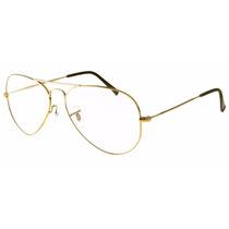 Armação Oculos De Grau Aviador Rb3025 Varias Cores