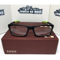 Óculos De Grau Oak. Currency (receituário) - Preto/verde