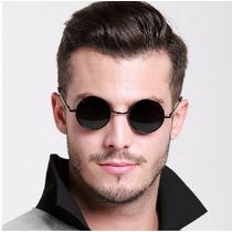 Óculos De Sol Redondo Estilo Ozzy Cor: Fumê, Verde E Marrom