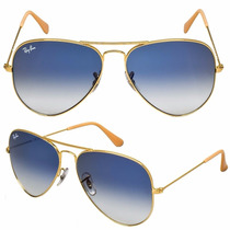 Rayban Rayban Aviador Marrom Azul Degrade 3025 3026 Original