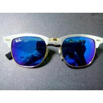Oculos De Sol Aluminium 3507 Prata Lentes Azul Espelhadas
