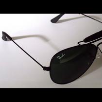 Oculos De Sol 3422q Caçador Preto Lentes Verdes 62mm