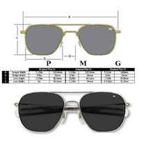 Oculos De Sol Aviador American Optical Original Unisex G