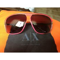 Óculos De Sol Original- Armani Exhange Preto Com Pink