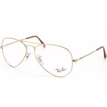 Armação Oculos De Grau Aviador Rb3025 Rb3026 Frete Gratis