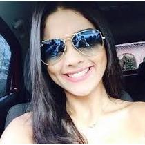 Oculos De Sol Aviador Azul Degrade Feminino 3025/3026