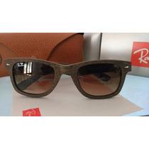 Oculos Sol Rayban Wayfarer Madeira 2140 Espelhado Cores