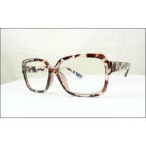 Armação Óculos De Grau De Oncinha Grande Quadrada - A511