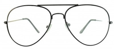 Óculos Aviador Com Lentes Transparentes