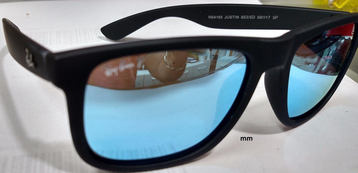 ray ban justin 4165 lente azul