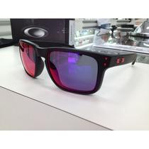 Oculos Oakley Holbrook 009102-36 Matte Black L .red Iridium