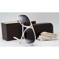 Óculos Louis Vuitton Evidence Branco Unisex Frete Gratis