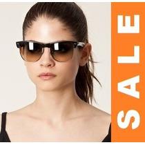 Óculos De Sol Unissex Estilo Ray Ban Clubmaster Oversize