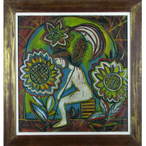 Cid Serra Negra Pintura Quadro Arte Moderna Brasileira Naif