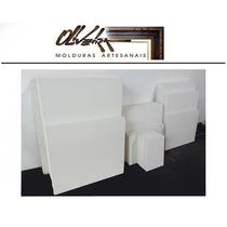 10 Telas Brancas Em Tecido Para Pintura - 50 X 70 Cm.