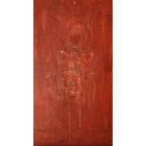 Pintura Tela Totem Vermelho Moderno Quadro Abstrato Flores
