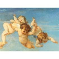 Pintura Feita A Mão Tela Quadro Anjos Arte Sacra *encomenda