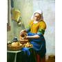A Leiteira Vermeer Tela Quadro Pintura Flores