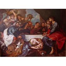 Quadro Tela Pintura Óleo Arte Sacra Por Encomenda 80x100cm